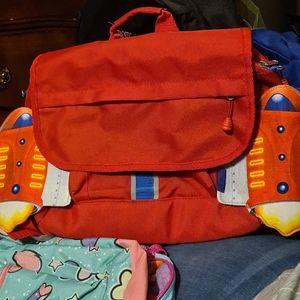 Bixbee jet plane backpack 12x10